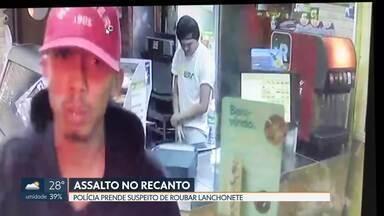 Polícia prende suspeito de assaltar lanchonete no Recanto - O crime foi na madrugada do dia 26 de agosto. Ladrão foi identificado por meio de imagens das câmeras de segurança. Um outro bandido continua foragido.