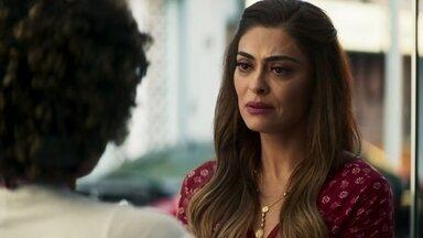 Maria da Paz demite Jenifer e a aconselha a se afastar de Rael - A boleira diz que a ex empregada a feriu muito ao ter roubado suas receitas