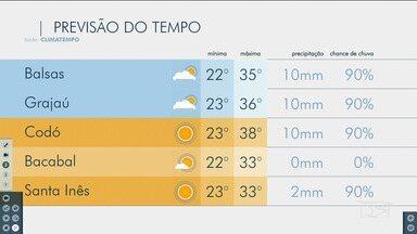 Veja as variações das temperaturas no Maranhão - Confira a previsão do tempo nesta segunda-feira (7) em São Luís e também no interior do estado.