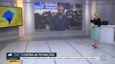 Daniel Scola fala sobre pichações em patrimônios históricos de Porto Alegre - Prefeitura prepara medida contra esses atos de vandalismo.