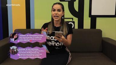 Jamile Pavlova interage com a galera das redes sociais - Telespectadores participam através de mensagens