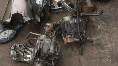 Polícia encontra peças roubadas em oficina mecânica em Maringá - Uma pessoa foi encaminhada à delegacia
