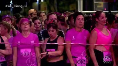 Em comemoração ao Outubro Rosa, Pink Run é realizado em Uberaba - Provas de 3 km e 5 km foram organizadas exclusivamente para as mulheres