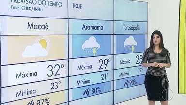 Confira a previsão do tempo para o interior do Rio - Veja as temperaturas para esta terça (8).