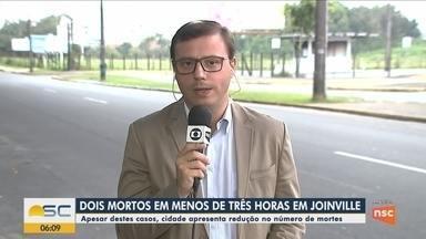 Dois homicídios são registrados em menos de três horas em Joinville - Dois homicídios são registrados em menos de três horas em Joinville