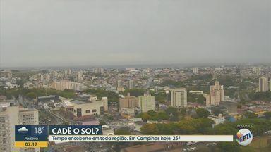 Confira a previsão do tempo para as cidades da região de Campinas e Piracicaba - Em Campinas, máxima de 25°C nesta quarta-feira (9).