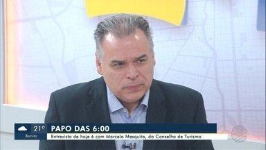 Presidente do Conselho Estadual de Turismo de MS é o entrevistado do Papo das 6 desta 4ª - Marcelo Mesquita está no quadro do Bom Dia MS.