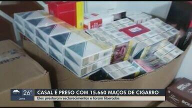 Casal é preso com 15,6 mil maços de cigarro em São João da Boa Vista - Eles prestaram esclarecimentos e foram liberados.