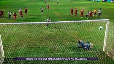 Vasco é o time que mais perdeu pênaltis no Brasileirão - Vasco é o time que mais perdeu pênaltis no Brasileirão