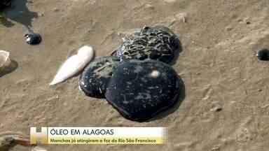 Manchas de óleo chegam à foz do rio São Francisco, em Alagoas - O óleo atinge o litoral dos 9 estados do Nordeste do Brasil. Ele traz prejuízos para o meio ambiente, o turismo e a pesca.