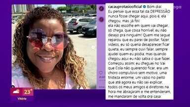 Cacau Protásio desabafa sobre depressão - Atriz fez um post em rede social falando sobre a doença, que atinge 11 milhões de brasileiros