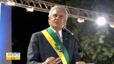 Governador de Goiás passa mal e é transferido para São Paulo - Ronaldo Caiado foi levado ao Hospital do Coração, em Goiânia, após sentir dores no peito.
