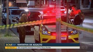 Suspeito morre após tentativa de assalto no bairro São Braz - Ação foi no começo da noite em um horário de grande movimento na região.