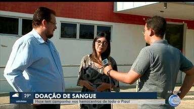 Campanha de doação de sangue acontece nesta quinta (10) em hemocentros de todo o Piauí - Campanha de doação de sangue acontece nesta quinta (10) em hemocentros de todo o Piauí
