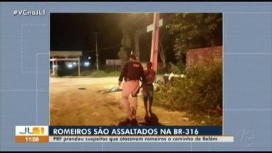 PRF prende suspeitos de assaltar romeiros na BR-316 - PRF prende suspeitos de assaltar romeiros na BR-316