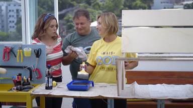 Denise e sua Família Gigante - Thalita vai dar ideias para colorir a cobertura da Denise, onde ela reúne toda a família. Carol Costa vai colaborar com plantas para que o lugar fique mais fresco no verão.