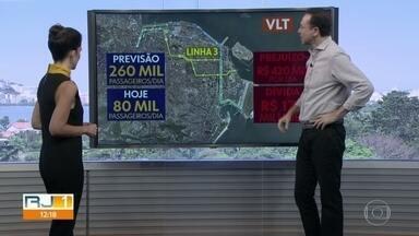 Linha 3 do VLT deve começar a funcionar no mês que vem - Linha vai ligar Central até o aeroporto Santos Dumont