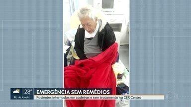 Médicos dizem que não têm antibióticos na emergência do Centro - Pacientes graves estão em poltronas