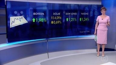 Bovespa e principais índices de ações dos EUA sobem nesta sexta (11) - O dólar caiu e fechou abaixo dos R$ 4,10.