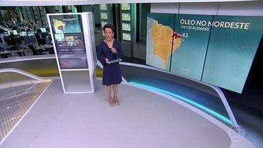 Mancha de óleo atinge 156 localidades em todos estados do Nordeste - Rio Grande do Norte é o mais afetado, com 43 localidades atingidas.