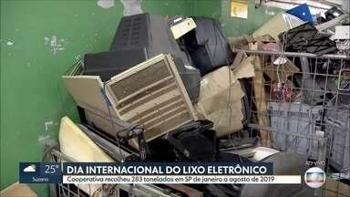 Cooperativa recolheu 283 toneladas de lixo eletrônico em SP de janeiro a agosto de 2019 - Hoje (14) é o dia mundial do lixo eletrônico. De acordo com um relatório da ONU, mais de 44 milhões de toneladas desse tipo de lixo foram produzidas em 2017 no mundo, o que dá mais ou menos 6 quilos por habitante do planeta.