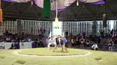 Letícia Clemente, de Suzano, é medalhista no Mundial de sumô, no Japão - Na decisão pelo bronze, a Letícia venceu a sumotori da Estônia.