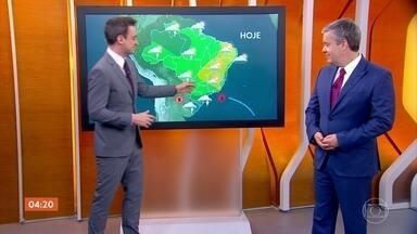 Chuva isolada atinge São Paulo e estados do Norte do país - Região Sul ainda continua com tempo chuvoso nesta terça-feira.