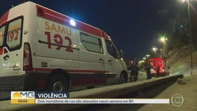 Morador de rua é assassinado a facadas em Belo Horizonte - Ele foi atacado com três facadas, uma no peito e duas nas costas, no Viaduto Dona Helena Greco, no bairro Carlos Prates, Região Noroeste.
