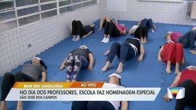 Escola em São José prepara homenagem especial para celebrar o Dia do Professor - Dia do Professor é celebrado nesta terça-feira.