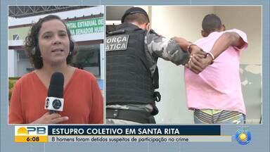 Oito suspeitos de estupro coletivo em Santa Rita são detidos pela polícia, na Paraíba - Mulher foi levada de dentro de casa após o marido dela ser espancado.