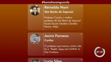 Público faz homenagem aos professores pelas redes sociais - Confira as mensagens enviadas ao telejornal.