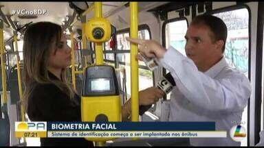 Biometria facial começa a ser implantada nos ônibus de Belém - A novidade busca evitar o uso indevido dos cartões de gratuidade e meia-passagem dos estudantes. Não será necessária a realização de outro cadastro
