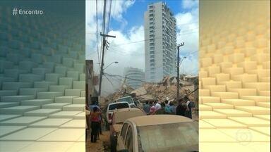 Boletim: prédio residencial de sete andares desaba em Fortaleza - O prédio ficava no bairro Dionísio Torres, área de classe média da cidade. Os bombeiros já foram acionados, mas ainda não há informações de vítimas.