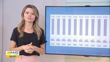 Previsão de pancadas de chuva em MS nesta terça-feira (15) - Confira a previsão do tempo.