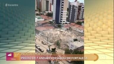 Boletim: vítimas começam a ser socorridas em prédio que desabou em Fortaleza - Prédio residencial de sete andares ficava no bairro Dionísio Torres, área de classe média da cidade.