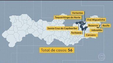 Sobem para 56 os casos confirmados de sarampo em Pernambuco - Maioria das confirmações ocorreu no Agreste do estado.