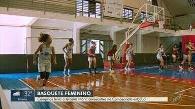 Campinas Basquete tenta a terceira vitória seguida no Campeonato Estadual - Equipe feminina entra em quadra nesta terça-feira (15) para enfrentar o time de Santo André (SP).
