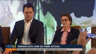 Esta suspensa a vacinação contra a Febre aftosa no Paraná - A decisão foi anunciada hoje(15) pelo governador Ratinho Júnior