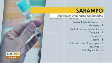 Sobe para 56 número de casos confirmados de sarampo em Pernambuco - Recife, Caruaru, Santa Cruz do Capibaribe, Taquaritinga do Norte, Toritama, Vertentes, Frei Miguelinho, Bezerros e Jaboatão dos Guararapes são as cidades com confirmações da doença.