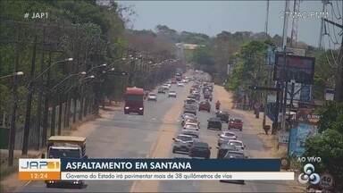 Governo do Amapá vai pavimentar mais de 38 quilômetros de vias em Santana - Projeto foi apresentado nesta terça-feira (15).