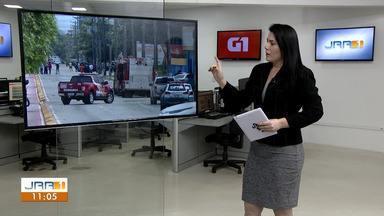 Explosões em empresa de gás assustam moradores da zona Sul de Boa Vista - O Corpo de Bombeiros e Polícia Militar interditaram o quarteirão temendo novas explosões.