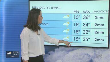 Veja como fica o tempo nesta quarta-feira na região - Em Rio Claro, há previsão de chuva e a temperatura máxima para a cidade é de 29º.