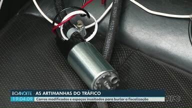 Traficantes usam de várias artimanhas para burlar a fiscalização - Carros são modificados e as drogas são escondidas em lugares cada vez mais inusitados.