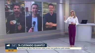 Repórteres do Bom Dia Rio Grande percorrem por bares e padarias do RS para tomar café - Confira a reportagem.