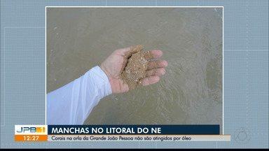 Corais na orla da Grande João Pessoa não são atingidos por óleo - Equipe de fiscalização constata que manchas não atingiram Areia Vermelha e Picãozinho