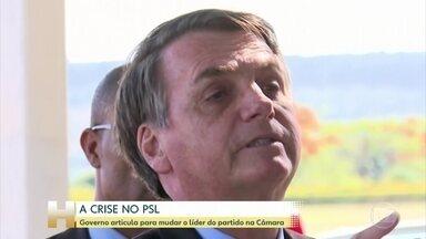 Governo articula para mudar o líder do partido na Câmara dos Deputados - Presidente Jair Bolsonaro disse hoje que a gravação de um telefonema dele foi desonestidade. Na conversa, Bolsonaro articulava para tirar o deputado delegado Valdir da liderança do PSL na Câmara.