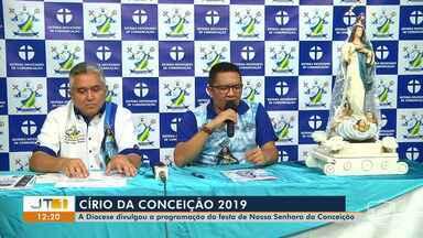 Programação do Círio da Conceição 2019 é divulgada pela Diocese de Santarém - Confira mais informações com a repórter Débora Rodrigues.