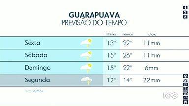 Tempo ficará encoberto em Guarapuava nessa sexta-feira (18) - Temperaturas ficam amenas neste fim de semana.