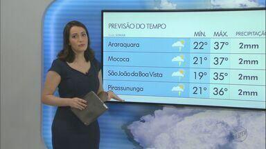 Veja como fica o tempo neste fim de semana na região - Frente fria traz previsão de chuva forte para sábado e domingo. As temperaturas também devem cair.
