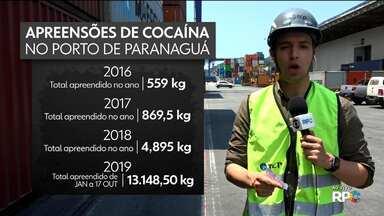 Apreensão de drogas no Porto de Paranaguá cresce 160% com relação a 2018 - A tecnologia é fundamental pra barrar a saída de toda esta droga